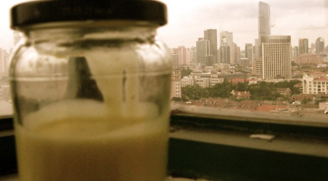 Still life with aioli on a Shanghai windowsill