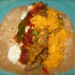 When it's slathered in cheese it looks almost exactly like the tacos I made last week...